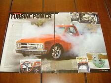1968 GMC TURBINE JET HELO ENGINE POWERED PICKUP ***ORIGINAL ARTICLE***
