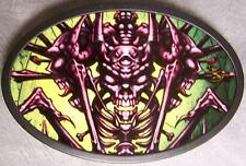 Metal TATTOO belt buckle Halloween Bone Man NEW
