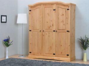 Kleiderschrank New Mexiko Mexico Holz Schlafzimmer Schrank Kiefer massiv