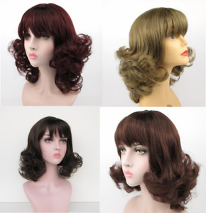 1950'S 60'S WOMENS LONG CURLY FLIP UP END BOTTOM WIG PEGGY SUE COSTUME VINTAGE