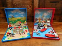 Playmobil Magnetic Micro Playsets 4333 Knights Castle + 4337 Harbour
