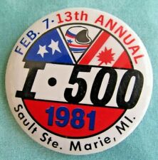 1981 I-500 Snowmobile Race Entry Button