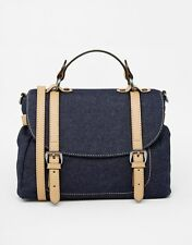 Mango Women's Denim Handbag Grab Shoulder Cross Body Bag - NEW
