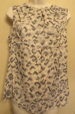 Oasis UK10 EU36 US6 pink and grey mix sleeveless top with pleated neckline