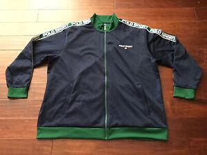 Ralph Lauren Polo Sport Mens Blue Green White Full Zip Track Jacket Sz 4XLT RARE