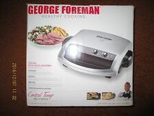 George Foreman Grill Griddle 100 sq in Cooking Surface Time & Temp Control New