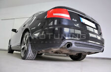For Audi A6 C6 4F 04-08 Rear Bumper twin exhaust Spoiler Diffuser diffuzer skirt