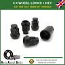 "Black Locking Wheel Nut Set 4 + Key 1/2"" UNF 19mm Hex For Dodge Nitro (2006-12)"