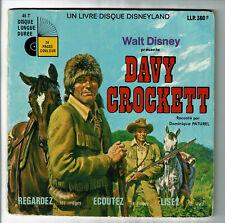 DAVY CROCKETT Disque 45T EP Livre D PATUREL Enfant WALT DISNEY 360 F Rèduit RARE