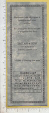 A430 Britan & Son printer March 1927 calendar blotter