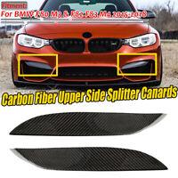Carbon Fiber Front Bumper Upper Splitter Canards Lips For BMW F80 M3 F82 F83