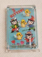 Vintage Cracker Jack 3 Kittens pinball game