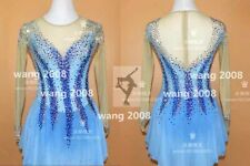 Figure Skating Competition Dress Ice Skating Training Dress Costume blue