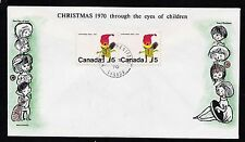 1970  No. 519p horizontal pair Winnipeg tagged unaddressed Cole cachet Christmas