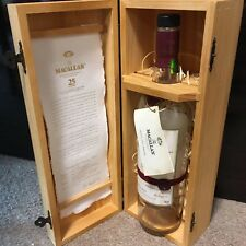 THE MACALLAN Highland Single Malt Scotch Whiskey Empty Bottle with Wooden Box
