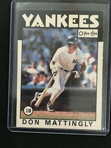 "DON MATTINGLY 1986 RARE O-PEE-CHEE  ""3RD YEAR"" NEW YORK YANKEES BASEBALL CARD"
