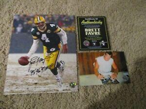 Brett Favre Autograph W/95,96,97 MVP Inscription