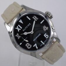 Glycine Incursore Diamond Hand Wound Watch 3762.19ld P Black Glass Bottom