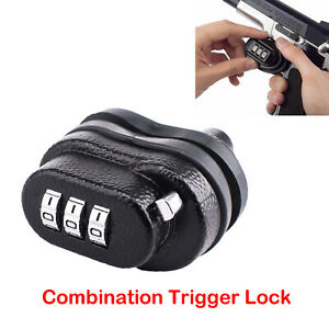 3-dial Combination Gun Locker Trigger Lock W/ Password For Rifle Shotgun Firearm