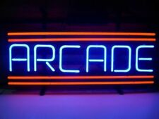 "New Arcade Red Neon Light Sign 17""x14"" Lamp Beer Pub Real Glass Artwork"
