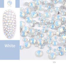 White Opal Crystal Nail Art Rhinestones 3D Nail Decoration Charm DIY Sticker