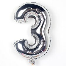 """32"""" Gold Silver Numbers Balloons Aluminum Foil Helium Balloon Wedding Party"""