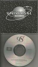 Nick lachey 98 DEGREES The Hardest thing w/ RARE U BE U REMIX PROMO DJ CD Single