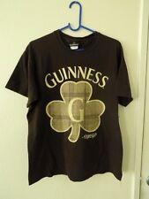 Guinness - shamrock logo t-shirt - brown - size M - Irish stout beer