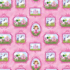 "Little Princess Blocks  Northcott Quilt Fabric 11"" remnant #144"