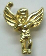 Golf Guardian Angel With Gold Club Lapel or Hat Pin Gold Plate by OSC NEW