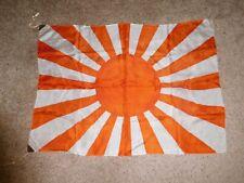 Wwii Era Vintage Japanese Silk Rising Sun Flag Banner Pennant 27 x 37 Original