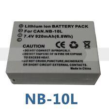 Battery for Canon NB-10L  PowerShot  G1 X G16 G15 SX40 SX50 SX60 HS Cameras
