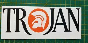 Trojan colour Wording MOD SKA Skinhead Soul 2 Tone Vinyl Decal Sticker Scooter