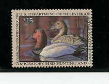 U. S. #RW60 (US781) Federal Duck Stamp, Canvasbacks, MNH, VF