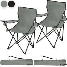 Set 2x Sillas de Camping Plegable Acampada Bolsa Transporte Playa Terraza Nuevo