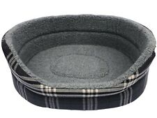 LARGE OVAL DOG BED IN CHARCOAL GREY REMOVABLE THICK FOAM INNER / WASHABLE 31'