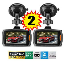 "2x Full HD 1080P 2.7"" Car DVR CCTV Dash Camera G-sensor Night Vision Recorder UB"