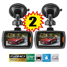 "2x Full HD 2.4"" Car DVR CCTV Dash Camera G-sensor Night Vision Recorder EO"