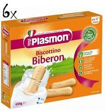 6x Plasmon Biberon Children Cookies for Baby Bottle Cake Cookies from 4 months 450gr