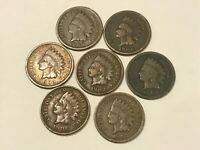 7 Coin INDIAN HEAD Penny Lot (1899 1900 1902 1903 1905 1906 1907) - STRONG DATES