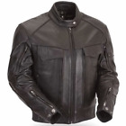 Men Motor Bike Black Genuine Soft Cow Leather safety rubber custom Jacket Sale