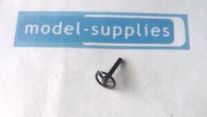 Corgi/Dinky/Spot On reproduction 9mm 3 spoke black plastic steering wheel