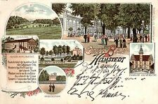 95/ Litho AK, Gruss aus Helmstedt, Theater, 1897