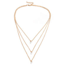 Boho Women Multi-layer Long Chain Pendant Crystal Summer Necklace Jewelry New