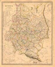 Rusia Ucrania. Europa Oriental. Belarús Baltics Finlandia Georgia. Sduk 1845 Mapa