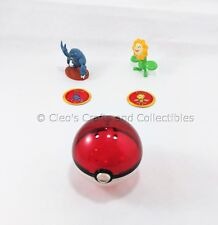 Hasbro Pokemon Gold Silver Heracross Sunflora Battle Figures Poke Ball Complete!
