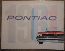 Pontiac ORIG 1961 USA Mkt opuscolo di vendita-BONNEVILLE VENTURA Catalina STAR CHIEF