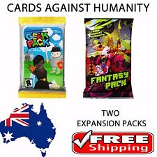 Cards Against Humanity - 2 x Booster Packs - Fantasy and Geek Expansions