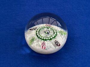 Caithness Latticino Glass Paperweight - William Manson Design - CG Cane