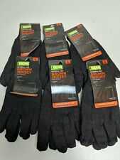 6x Men's iGear General Use Brown Fabric Jersey Gloves Size Large L
